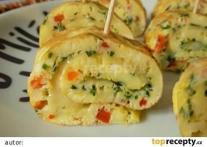 Omeletkové jednohubky