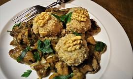 Ořechové knedlíčky s houbami