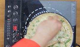 Parmezánové risotto s kuřecím masem a hráškem