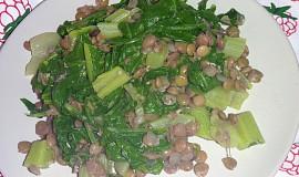 Čočka s mangoldem a česnekem