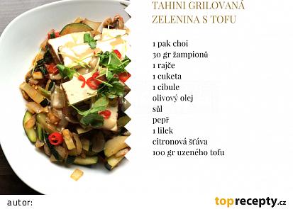 Tahini grilovaná zelenina s tofu