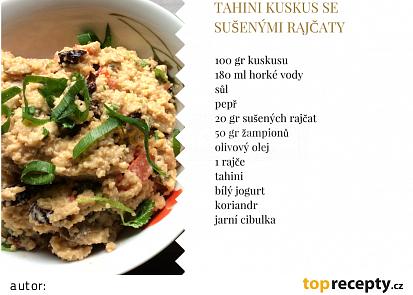 Tahini kuskus se sušenými rajčaty