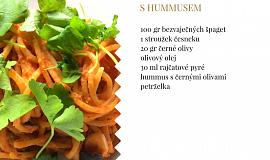 Tomatové špagety shummusem