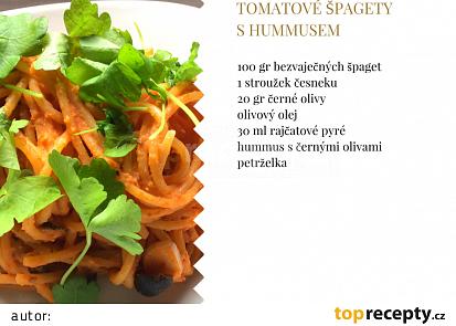 Tomatové špagety shumusem