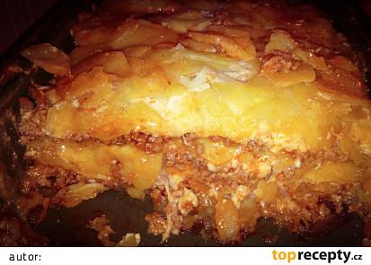 Zapečené brambory à la lasagne