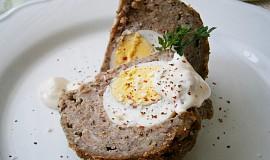Hřibovo-masové koule plněné vejci