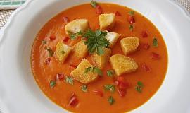 Krémová polévka s paprikou