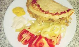 Kuřecí gyros v otrubové placce (Dukanova dieta)