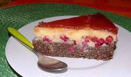 Nepečený dort z kuskusu s rybízem