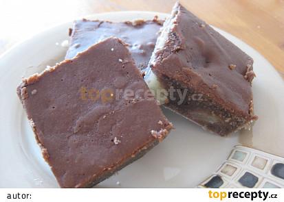 Angreštové řezy s čokoládovou polevou