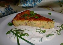 Babiččin bramborový koláč s bylinkovým dipem