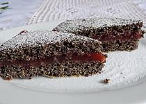 Makový koláč s višňovým krémem