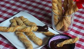 Perníkové grissini s čokoládovým dipem