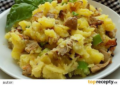 Šťouchané brambory s hlívou