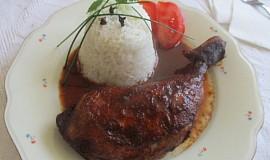 Výborné kuře na červeném víně