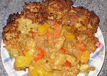 Kuřecí maso s játry a bramboráky
