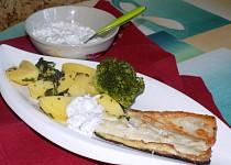 Lososový pstruh se smetanovou brokolicí