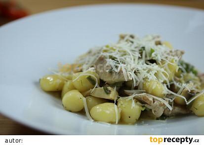 Gnocchi di maiale con funghi (noky s vepřovou panenkou a žampiony)