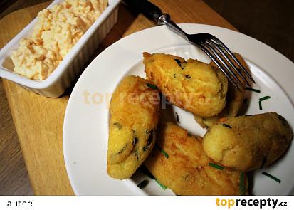 Krokety z bramborového odpalovaného těsta