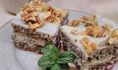 Makové řezy s mandlemi a corn flakes