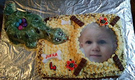 Sladký dort - dinosaurus