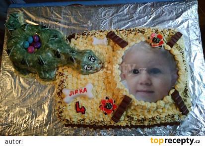 Sladký dort- dinosaurus