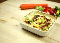 Zapečené brambory s cibulí