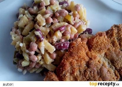 Bramborovo-fazolový salát