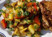 Bramborový salát s grilovanou zeleninou