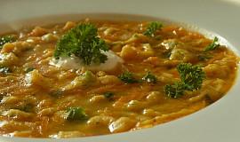 Lehce pikantní drožďová polévka s kapáním