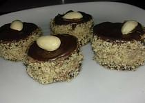 Ořechovo-čokoládové dortíčky
