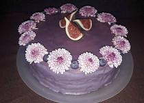 Punčový dort fialový