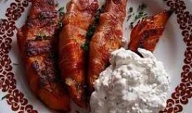 Batáty ve slaninové košilce