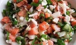 Cibulový salát s matjesy