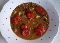 Čočková polévka s klobásou