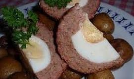 Pštrosí vejce - pečená