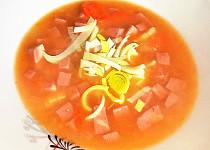 Šunková polévka s pórkem (bez tuku)