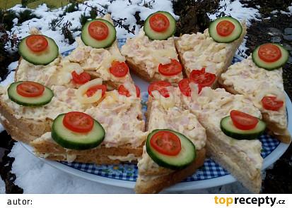 Sýrovo-šunková pomazánka s vejci
