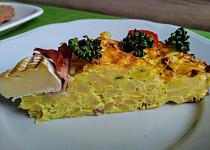 Bramborový nákyp se schwarzwaldskou šunkou se sýrovým středem