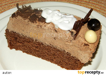 Čokoládový dort s fondánovými sněhuláky
