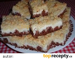 Drobenkový tvarohový koláč s kokosem