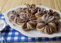 Dvoubarevné sušenky s pistáciemi