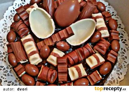 Kinder čokoládový dort