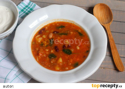 Luštěninová polévka podle Alberta