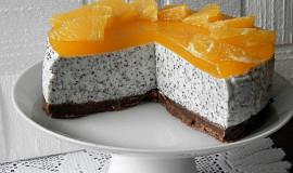 Makový nepečený cheesecake s pomerančem