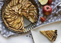 Pohankový koláč s hruškami a jablky