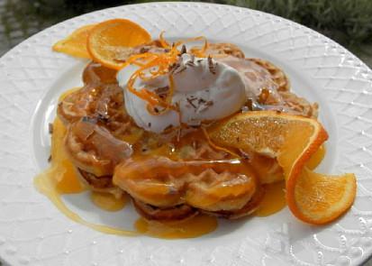 Pomerančové vafle