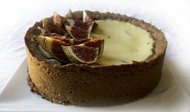 Švestkový koláč s kokosovým mlékem a fíky