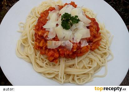 Zeleninové ragú s červenou čočkou à la bolognese
