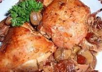 Brusinkové kuře se žampiony